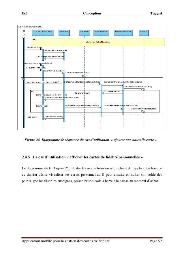 ISI Conception Taggist Application mobile pour la gestion des cartes de fidélité Page 52 2.4.5 Le cas d'utilisation « affi...