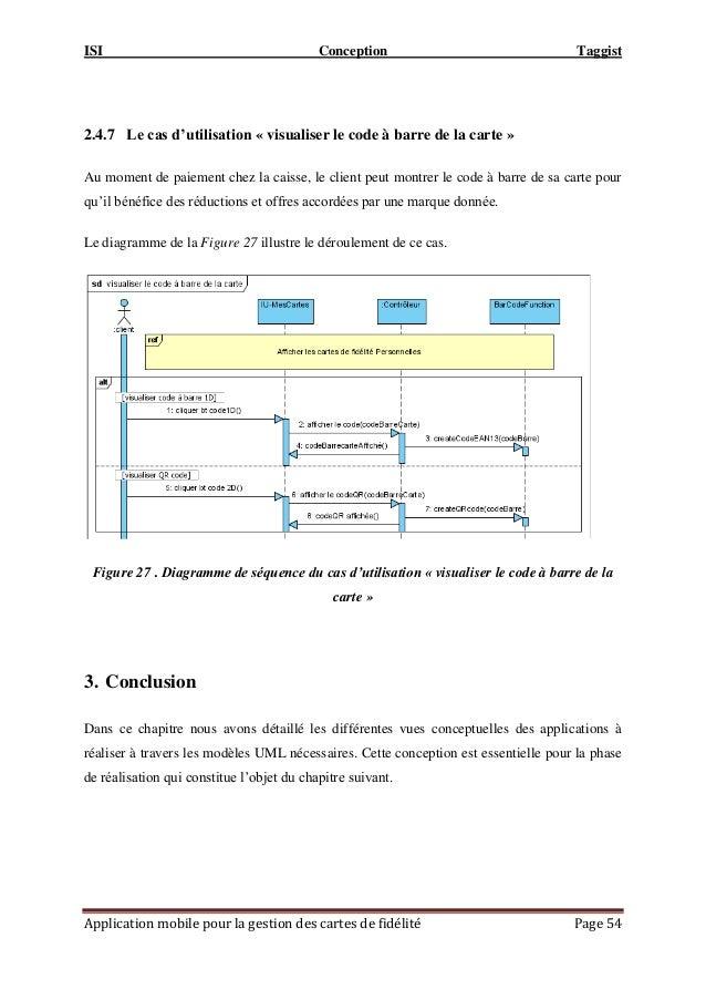 ISI Conception Taggist Application mobile pour la gestion des cartes de fidélité Page 54 2.4.7 Le cas d'utilisation « visu...