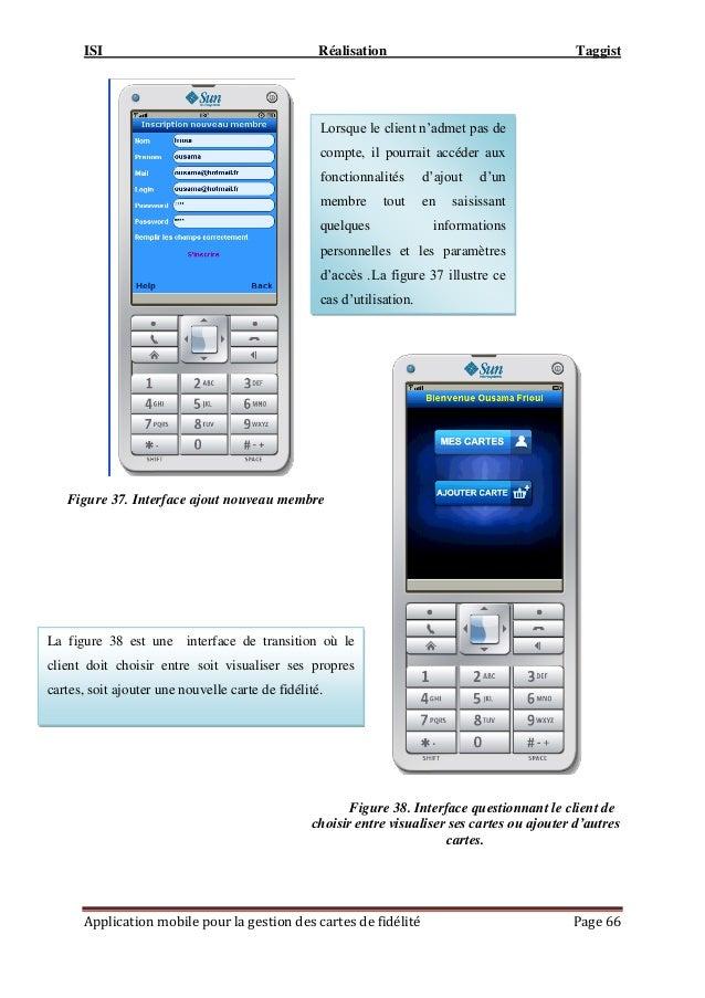 ISI Réalisation Taggist Application mobile pour la gestion des cartes de fidélité Page 66 Figure 37. Interface ajout nouve...