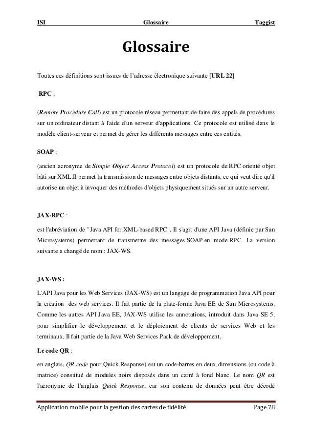 Rapport PFE : Développement D'une application de gestion des cartes de fidélités(Taggist-Tunis)