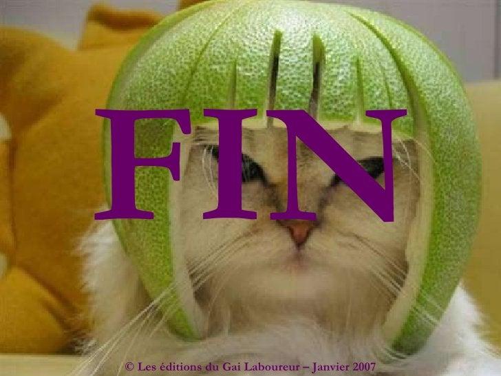 FIN © Les éditions du Gai Laboureur – Janvier 2007