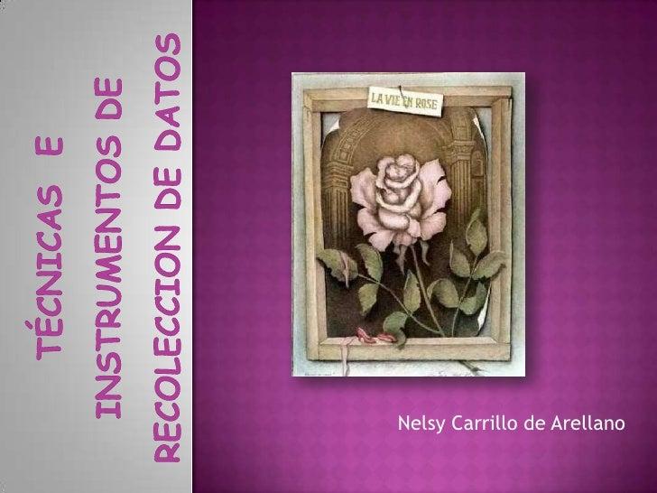 Nelsy Carrillo de Arellano