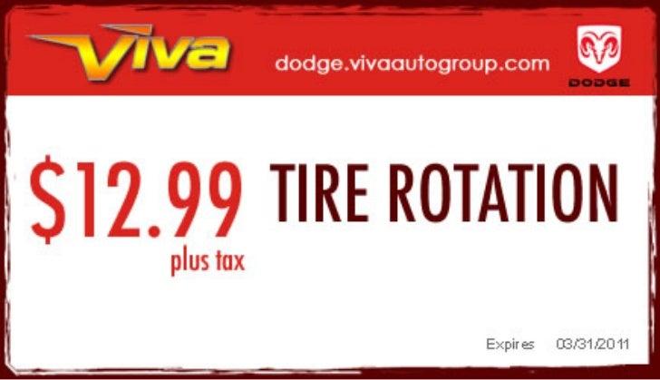 Tire Rotation Service – Viva Dodge Chrysler Jeep El Paso TX