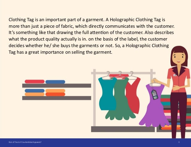 SICK & TIRED OF COUNTERFEITED APPARELS? Slide 3