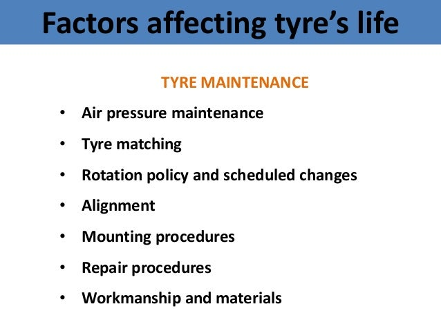 Tyre maintenance in open cast mines