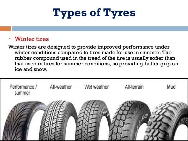 Best All Weather Tires >> All types of Tires by Ankush Agrawal