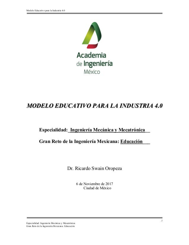 Modelo Educativo Para La Industria 40