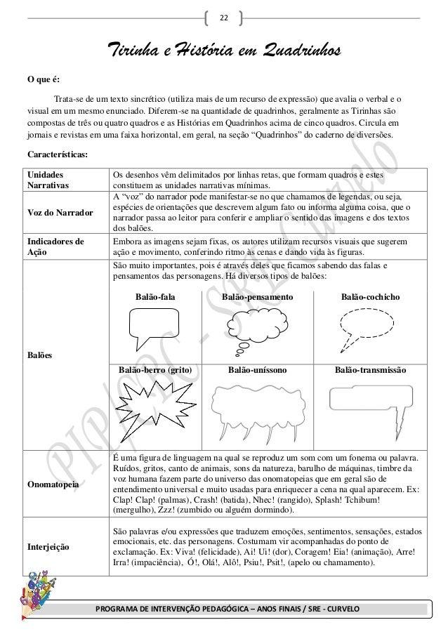 22                      Tirinha e História em QuadrinhosO que é:        Trata-se de um texto sincrético (utiliza mais de u...