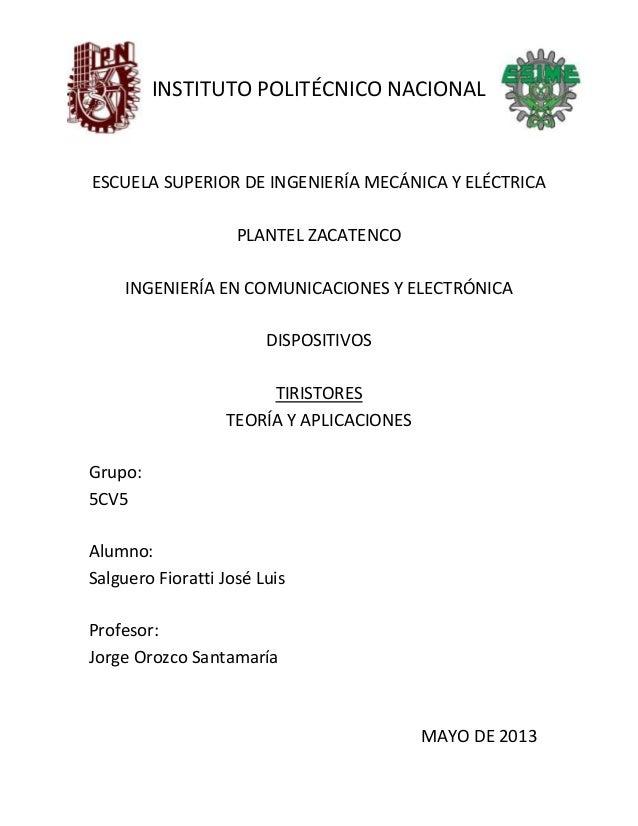 INSTITUTO POLITÉCNICO NACIONALESCUELA SUPERIOR DE INGENIERÍA MECÁNICA Y ELÉCTRICAPLANTEL ZACATENCOINGENIERÍA EN COMUNICACI...