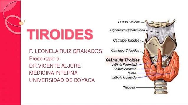 P. LEONELA RUIZ GRANADOS  Presentado a:  DR.VICENTE ALJURE  MEDICINA INTERNA  UNIVERSIDAD DE BOYACA