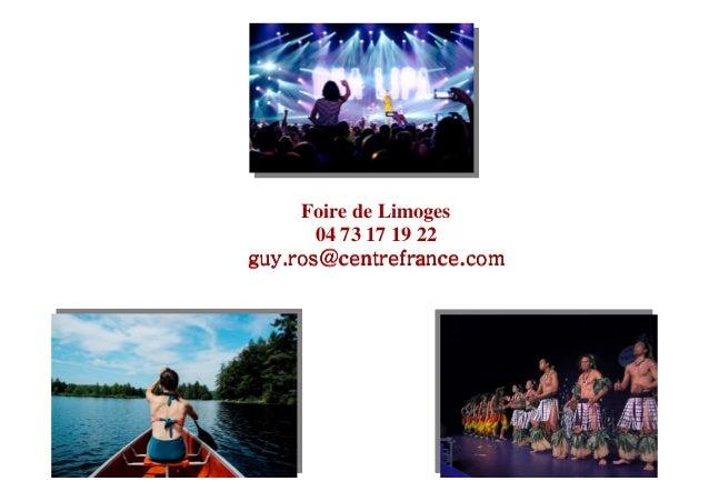 Programme foire de limoges 2017 for Foire de limoges