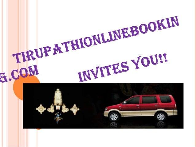 Tirupati Online Booking- The Richest                   Temple Tirupati  Online Booking -The Balaji Tirupati temple  is vi...