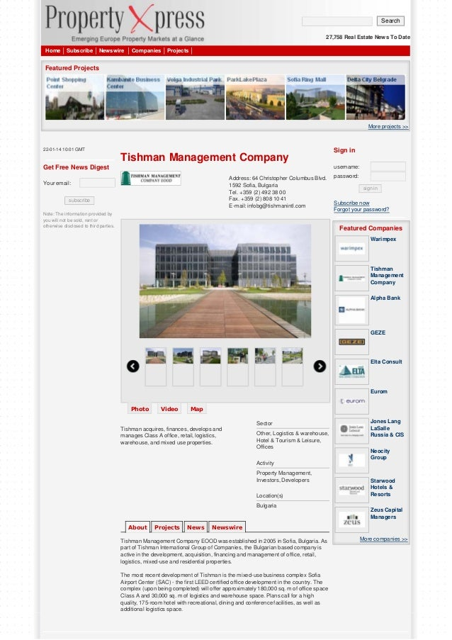 Search 27,758 Real Estate News To Date Home  Subscribe  Newswire  Companies  Projects  Featured Projects  More projects >>...