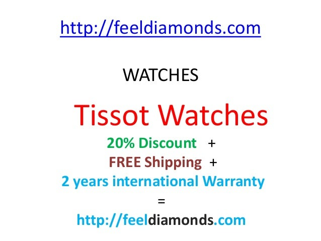 http://feeldiamonds.com WATCHES Tissot Watches 20% Discount + FREE Shipping + 2 years international Warranty = http://feel...