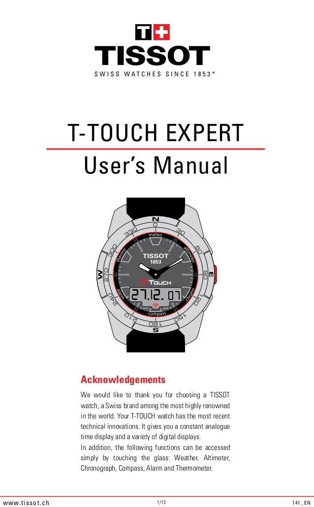 tissot t touch expert titanium manual 141 en crop rh slideshare net tissot t-touch instruction manual tissot t touch user manual