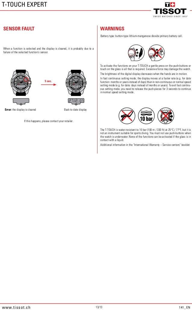 Tissot T-Touch Expert Titanium manual 141-en crop