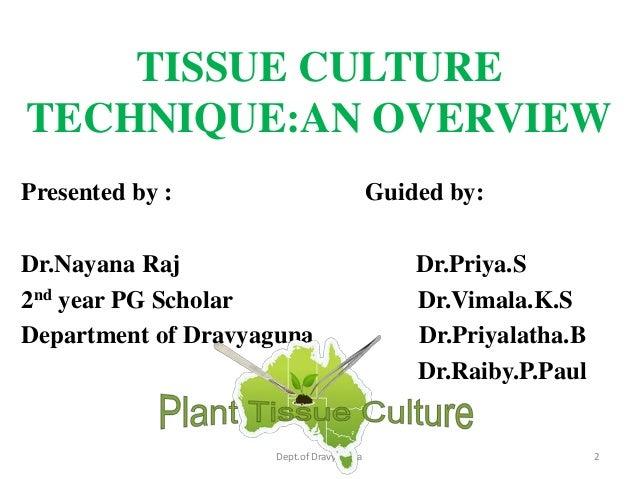 Tissue culture techniques
