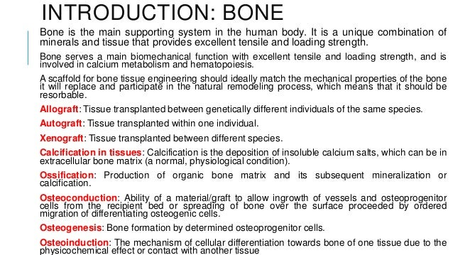 introduction to bone tissue engineering Hydrogels in bone tissue engineering introduction bone injuries can result in patient morbidity and even mortality in the absence of effective healing.