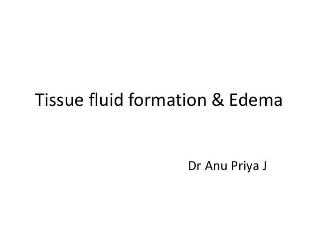 tissue fluid formation edema slideshare
