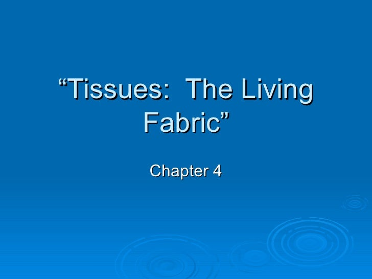 Chapter 4 - Tissues