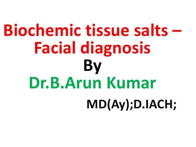 Biochemic tissue salts – Facial diagnosis By Dr.B.Arun Kumar MD(Ay);D.IACH;