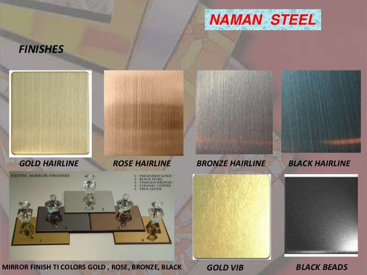 stainless steel sheets in metal colors like gold brass. Black Bedroom Furniture Sets. Home Design Ideas