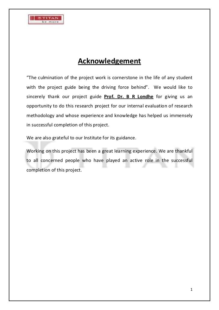 "Acknowledgement""The culmination of the project work is cornerstone in the life of any studentwith the project guide being ..."