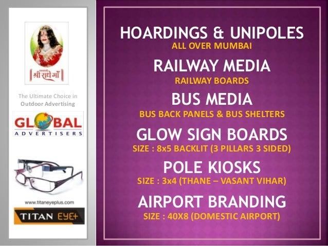 BUS MEDIA BUS BACK PANELS & BUS SHELTERS HOARDINGS & UNIPOLES GLOW SIGN BOARDS POLE KIOSKS RAILWAY MEDIA RAILWAY BOARDS AI...