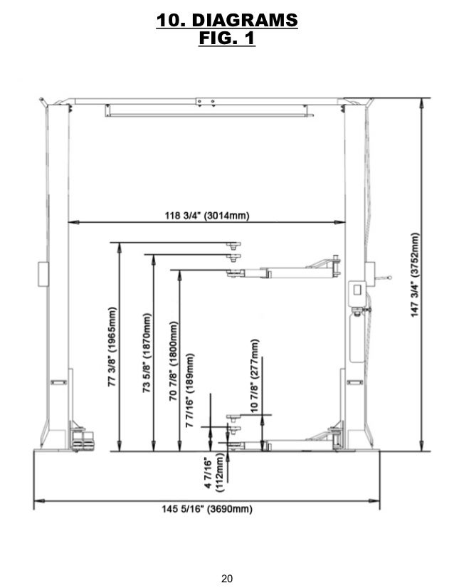 Wiring Diagram For 2 Car Garage : Post lift wiring diagrams image free