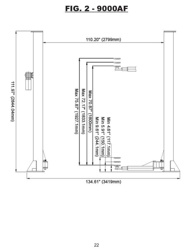 Titan Hd2 P 9000ac Af 2 Post Lift Manual