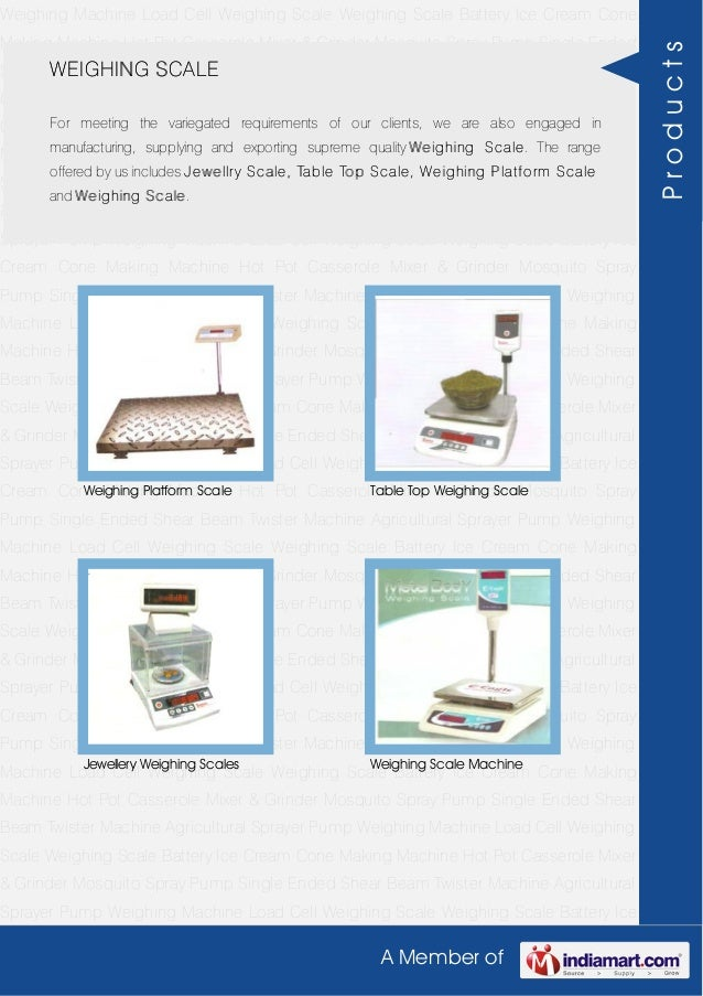 A Member ofWeighing Machine Load Cell Weighing Scale Weighing Scale Battery Ice Cream ConeMaking Machine Hot Pot Casserole...