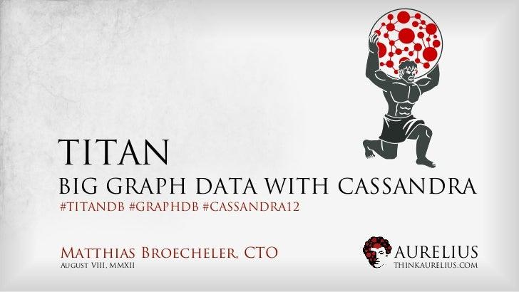 TITANBIG GRAPH DATA WITH CASSANDRA#TITANDB #GRAPHDB #CASSANDRA12Matthias Broecheler, CTO         AURELIUSAugust VIII, MMXI...