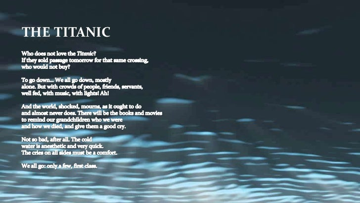 After the titanic poem