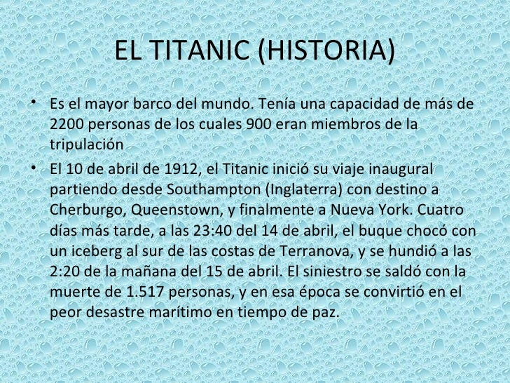 Titanic Slide 3