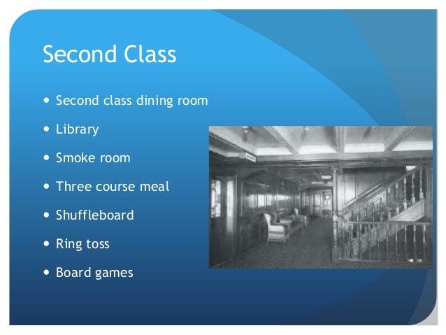 Second Class  Second class dining room. Titanic