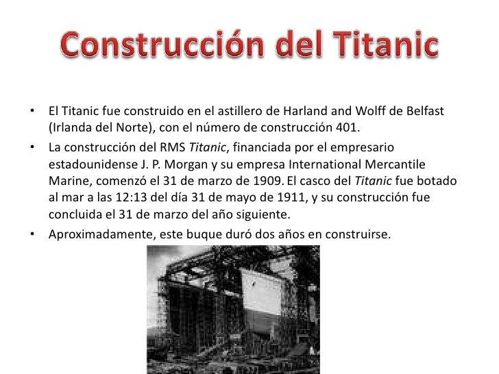 Titanic goldarbeiter - Construccion del titanic ...