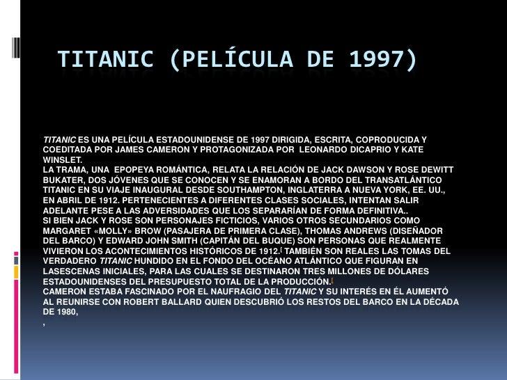 Titanic (película de 1997) Slide 2
