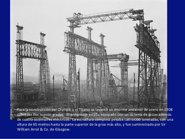 La historia del titanic - Construccion del titanic ...