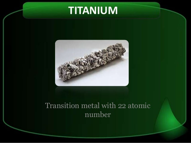 the characteristics of titanium a mineral discovered in 1791 Titanium was discovered in england by william gregor in 1791 and named by martin heinrich klaproth for the titanium's properties are chemically and physically.