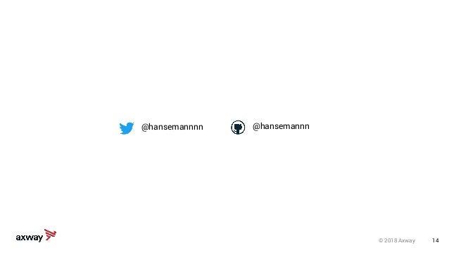 © 2018 Axway 14 @hansemannnn @hansemannn