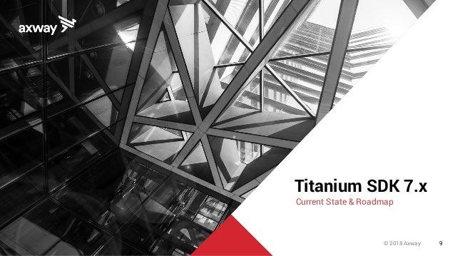 © 2018 Axway 9 Titanium SDK 7.x Current State & Roadmap