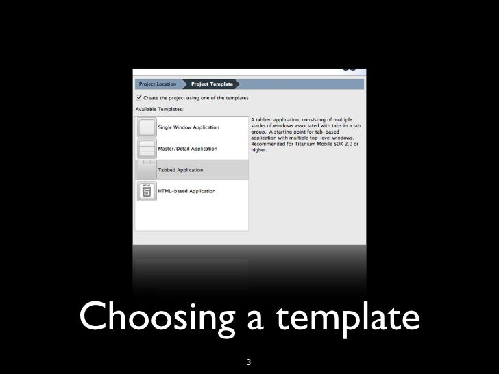 Titanium appcelerator my first app for Titanium app templates