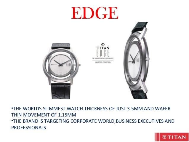 marketing strategy of titan watches ppt