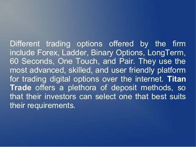 Best 60 second binary option platform