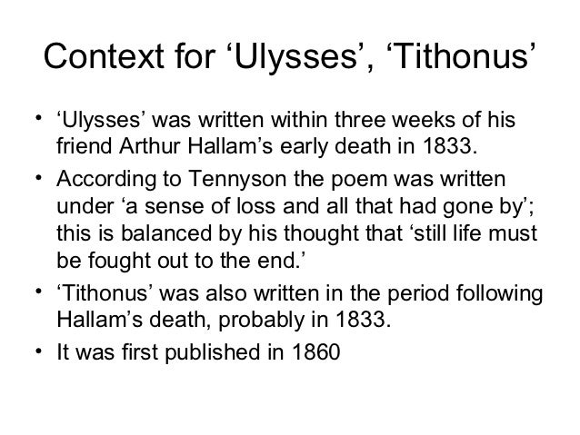 """tennyson tithonus This chapter examines """"tithonus"""" in the context of tennyson's """"oenone,"""" and of his early poems representing tithonus's son, memnon in studying the phenomenon of masculine beauty in a cluster of related poems of tennyson's, chapter five also explores the problem of beauty in tennyson's poetics."""