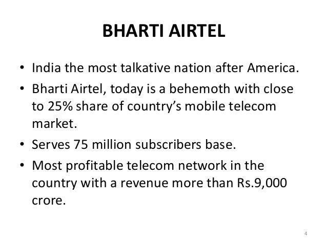 bharti airtel case study Strategic outsourcing at bharti airtel limited  bharti airtel case  case ducati & texas pacific group.