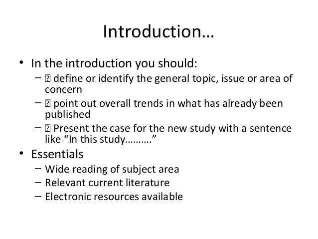 introduction of a literature review