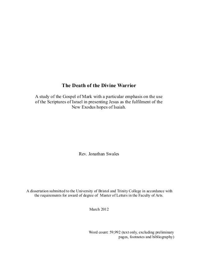 Thesis: Title Page and Acknowledgements