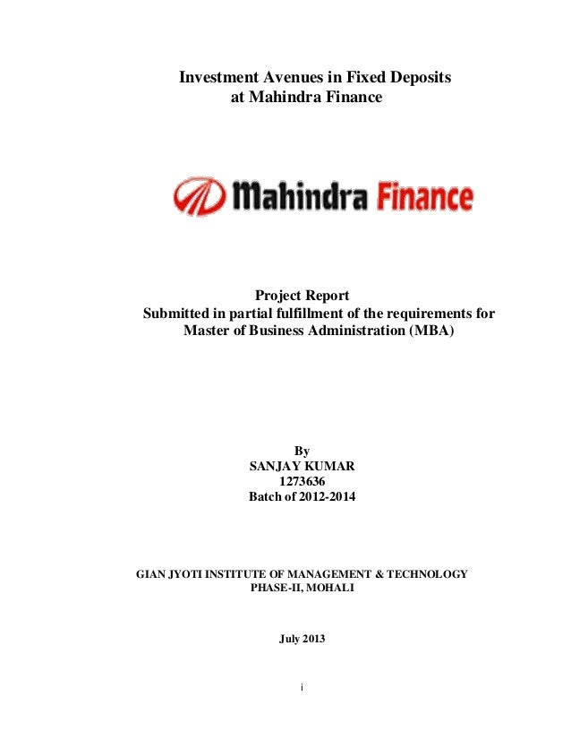 Title Certificate Of The Project