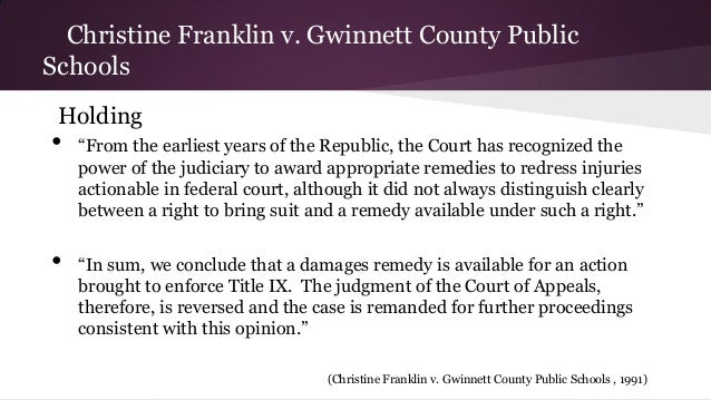 Franklin v gwinnett title ix sexual harassment